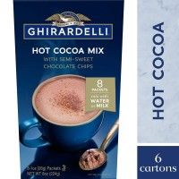 Ghirardelli Hot Cocoa with Mix Semi Sweet Chocolate Chips Drink Coklat
