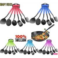 Kitchen Tools Set 6 Pcs Color Atau Alat Masak Spatula Set