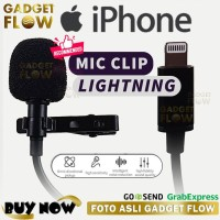 Microphone Mic Clip On Lavalier Lightning untuk iPhone 7 8 X XR XS 11