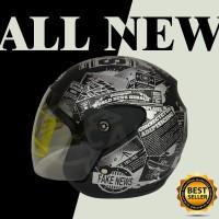 Helm Motor Evolution koran black doff SNI bukan gm