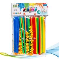 Mainan Anak Edukasi Building Block Lego Sedotan Magic Straws 6651-2