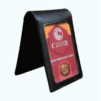 Name Tag Id Card Holder Kulit Magnet Karyawan Pegawai Hitam