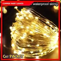 Copper fairy lights [USB] lampu tumblr Hias dekorasi kabel tembaga - 5M WarmWhite