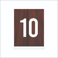 nomor meja - angka meja cafe - Cokelat