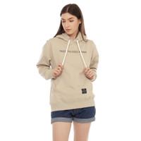 Cottonology Sweater Jaket Hoodie Wanita Niken khaki