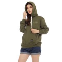 Cottonology Sweater Jaket Hoodie Wanita Manhattan Hijau Army