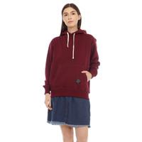 Cottonology Wanita Sweater Jaket Hoodie Hana Maroon
