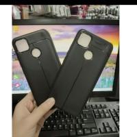 Xiaomi Redmi 9C Case Kulit Jeruk Carbon Leather Auto Focus
