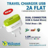 Wall Charger USB 2A Flat Wellcomm