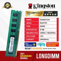 RAM KINGSTON LONGDIMM DDR3 8GB PC 12800