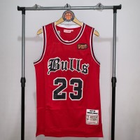 Jersey Basket Swingman NBA Chicago Bulls Michael Jordan merah FINALS