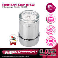 Faucet Light Keran Air LED 7 Warna dengan Konektor - WH-F03 - Silver