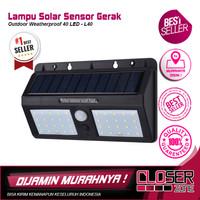 Lampu Solar Sensor Gerak Outdoor Weatherproof 40 LED - L40 - Black