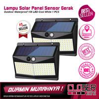 Lampu Solar Panel Sensor Gerak Outdoor Waterproof 108 LED