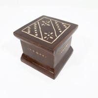 Jual Kotak Cincin Ukir Kayu Jati Antik