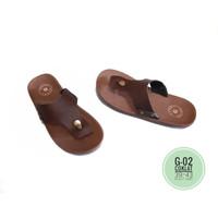 Sandal Pria Casual KULIT ASLI sukrgang Garut Terbaru Original Kekinian
