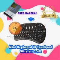 Mini Keyboard i8 Touchpad Wireless 2.4G For PC Android TV Box terlaris