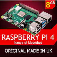 Board Raspberry Pi 4 RAM 8GB Mini PC Server Raspi Pi4 Made in UK