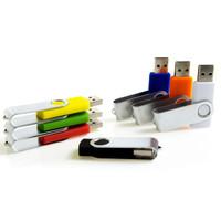 Souvenir Promosi Logo Perusahaan USB Flashdisk Swivel Warna Warni