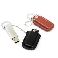 Souvenir Promosi Logo Perusahaan USB Flashdisk Kulit Leather