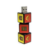 Souvenir Promosi Logo Perusahaan USB Flashdisk Rubiks Puzzle