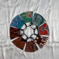 Masker anak model earloop bahan kain batik 2ply tali karet