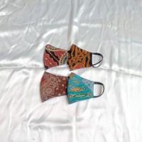 Masker anak non medis bahan kain batik 2ply tali karet