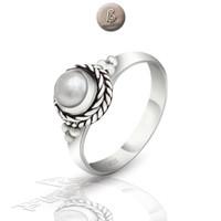 Cincin Perak Bali Silver 925 Ring Tali Air Albina Mutiara - 07