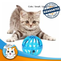 Net Rattle Ball / Bola Kerincing Jaring Mainan Anjing dan Kucing