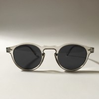 Kacamata / Sunglasses Retro Transparant - Black