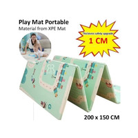 Khusus POS - Play Mat 1 CM Double Side Korea XPE Baby Mat Karpet Bayi