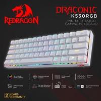 Redragon Dual Mode Mechanical Gaming Keyboard DRACONIC WHITE- K530WRGB