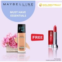 Maybelline-By fit Me Foundation matte +Poreless free The PM Lipstick-