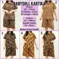 Babydoll Batik Baju Tidur Setelan Piyama Wanita Babydoll Katun 2