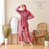 vSamantha Pajamas Set Celana Muslim BUSUI Friendly Batik 01