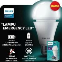 LAMPU LED PHIlLIPS BULB EMERGENCY 7W - 7 WATT PUTIH RECHARGEABLE
