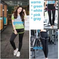 Celana legging hotpants sport senam gym fitness yoga running wanita
