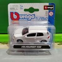 Diecast Volkswagen VW Golf R32 White By Bburago 64