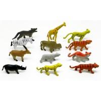 set mainan hewan miniatur wild animal 12 pcs