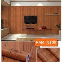 wallpaper / wallsticker dinding motif triplek coklat 45 cm x 10 m