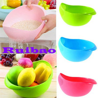 Wadah Cuci Beras Sayur Buah Tempat Serbaguna Multifungsi Fruits Dapur