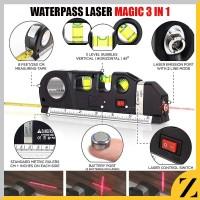 Waterpass Laser Digital Fixit LevelPro3 Penggaris Meteran Manual 250cm