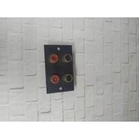 socket input RCA 4 lubang female jack 4 pin RCA soket 2 x 2 slot