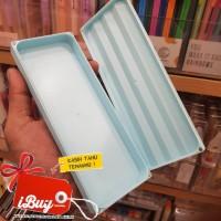 Miniso Cute Tempat Pensil Zig Zag Plastik Pencil Case With Magnet