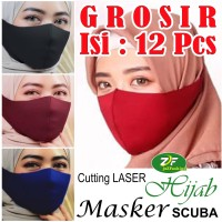 GROSIR Masker SCUBA Korea Wanita Hijab Hijabers - Cutting Laser + Neci