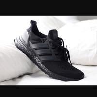 SEPATU ADIDAS ULTRA BOOST TRIPLE BLACK 3.0 / PREMIUM MIROR / SNEAKERS