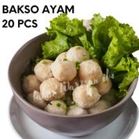 Bakso Ayam isi 20 pcs (Frozen Food/Bakso Sehat)