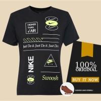 Kaos Pria Original Kaos Nike AS M NSW Pack 2 Tee 3 - Black