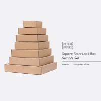 Sample Set Square Front Lock Box Setiap Ukuran - Sampel Kotak