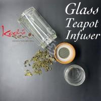 Glass Teapot Infuser - Tumbler Seduh Saring Teh Doublewall Premium